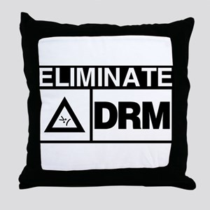 Eliminate DRM NOW! Throw Pillow