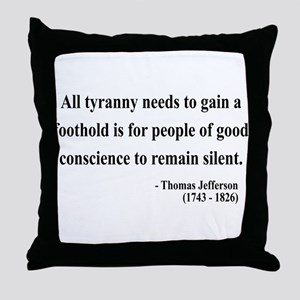Thomas Jefferson 4 Throw Pillow
