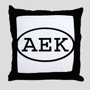 AEK Oval Throw Pillow