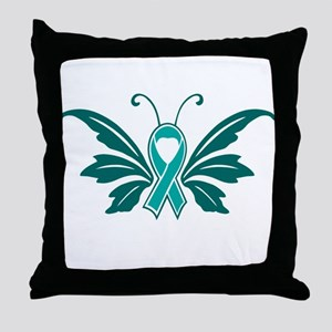 Sexual Assault Awareness Butterfly Ribbon Throw Pi