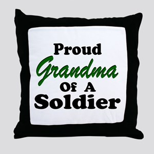 Proud Grandma of a Soldier Throw Pillow