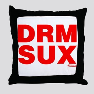 DRM Sux Throw Pillow
