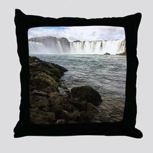 Waterfall in Iceland Throw Pillow