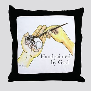 Handpainted by God Throw Pillow