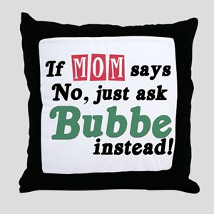 Just Ask Bubbe! Throw Pillow