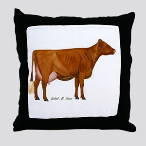 Shorthorn Trans Throw Pillow