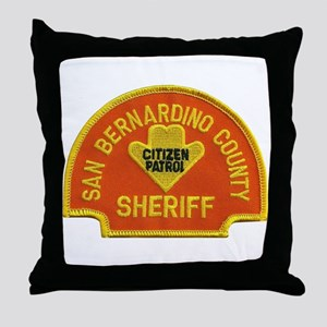 San Bernardino Sheriff Citize Throw Pillow