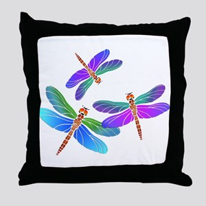 Dive Bombing Dragonflies Throw Pillow
