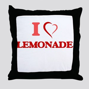 I Love Lemonade Throw Pillow