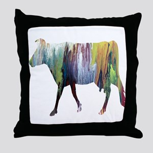 Guernsey cow Throw Pillow