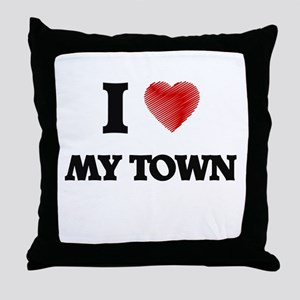 I love My Town Throw Pillow