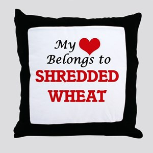 My Heart Belongs to Shredded Wheat Throw Pillow