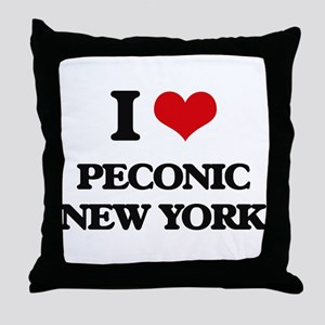 I love Peconic New York Throw Pillow