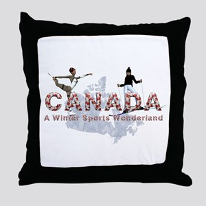 Canada Winter Sports Throw Pillow
