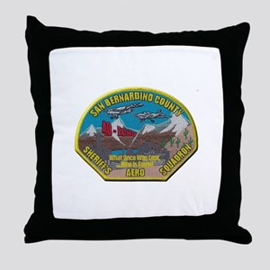 San Bernardino Sheriff Aero Squadron Throw Pillow