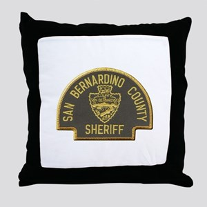 San Bernardino Sheriff Throw Pillow