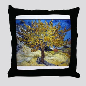 Van Gogh Mulberry Tree Throw Pillow