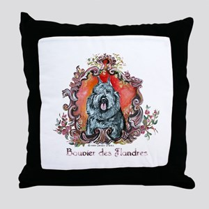 Bouvier Portrait Throw Pillow