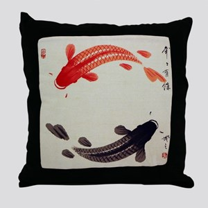 Koi Fish Cute Throw Pillow