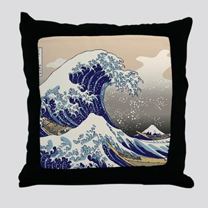 Hokusai_Great_WaveKing1 Throw Pillow