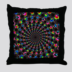 Psychedelic Wormhole Throw Pillow