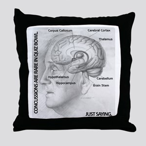 Concussions Throw Pillow