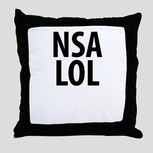 NSA LOL Throw Pillow