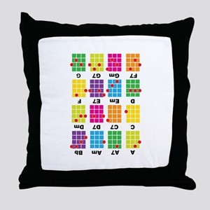 Chord Cheat Tee White Throw Pillow
