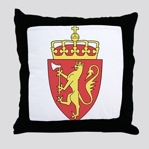 Norway Coat of Arms Throw Pillow