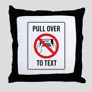Pull OverTo Text Throw Pillow