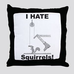 Boot the Squirrel Throw Pillow