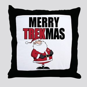 Merry TREKmas Throw Pillow