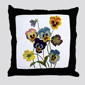 PARADE OF PANSIES Throw Pillow