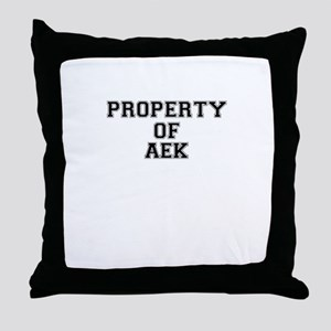 Property of AEK Throw Pillow