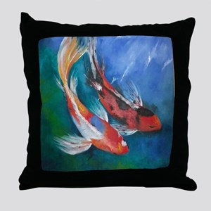 Koi Fish Cool Throw Pillow