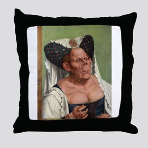 The Ugly Duchess - Quinten Massys - c 1520 Throw P