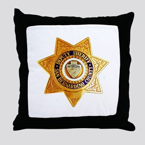 San Bernardino County Sheriff Throw Pillow