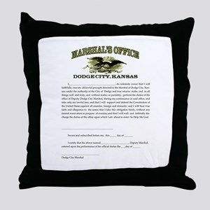 Dodge City Marshal Throw Pillow
