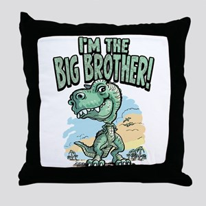 Big Brother T-Rex Throw Pillow