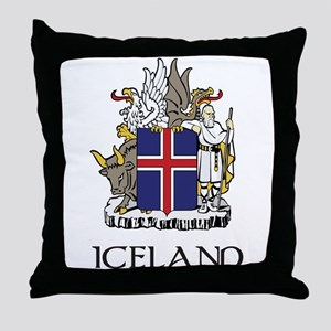 Iceland Coat of Arms Throw Pillow