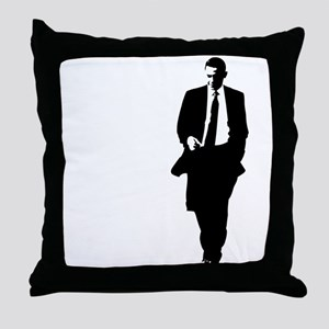 Big Obama Silhouette Throw Pillow