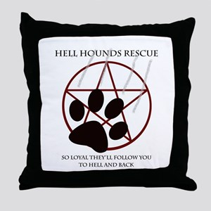 Hell Hounds Rescue wt Throw Pillow