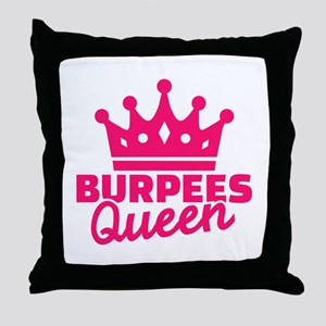 Burpees queen Throw Pillow