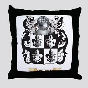Nelson Coat of Arms (Family Crest) Throw Pillow
