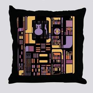 Star Trek Control Panel Throw Pillow