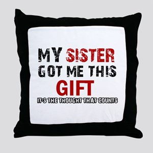 Cool Sister Designs Throw Pillow
