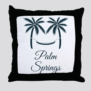 Palm Trees Palm Springs T-Shirt Throw Pillow