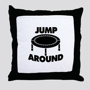 Jump Around Trampoline Throw Pillow