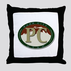 Park City Souvenirs Logo Throw Pillow