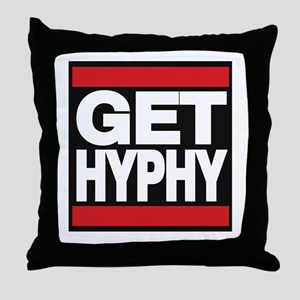 get hyphy lg red Throw Pillow